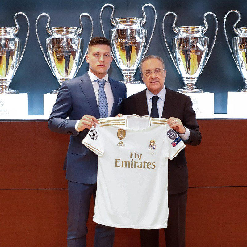 Luka Jovic dan Presiden Real Madrid